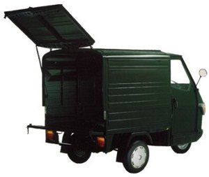 transporter piaggio ape box mit elektroantrieb. Black Bedroom Furniture Sets. Home Design Ideas